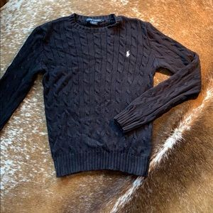 Polo Ralph Lauren Polo Black Cable Knit Sweater